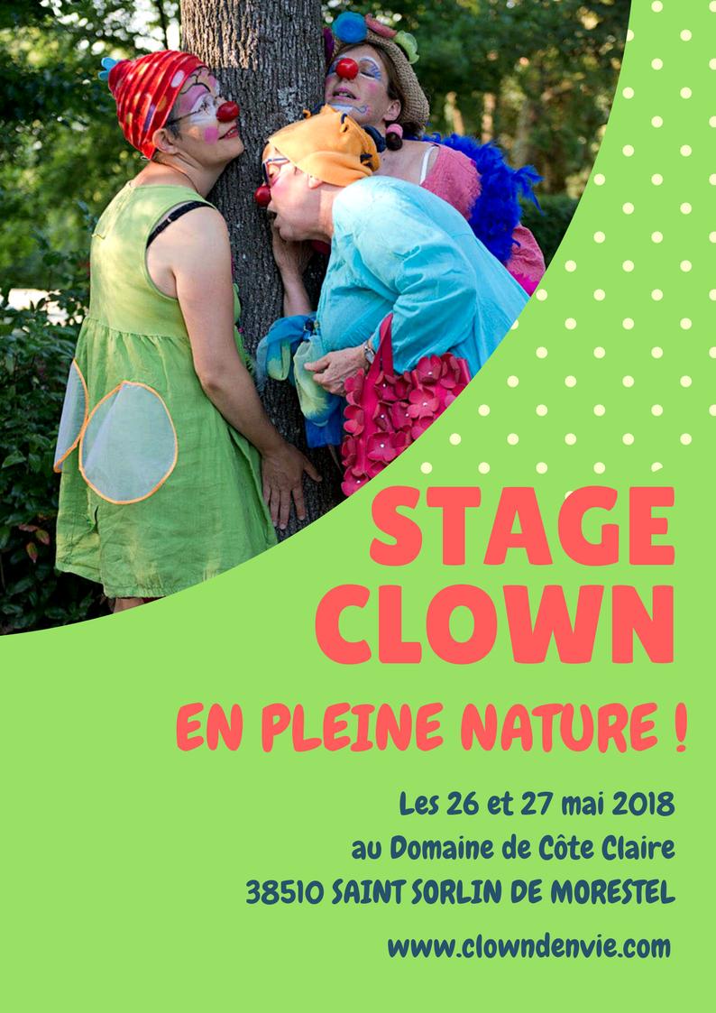 Stage clown en pleine nature