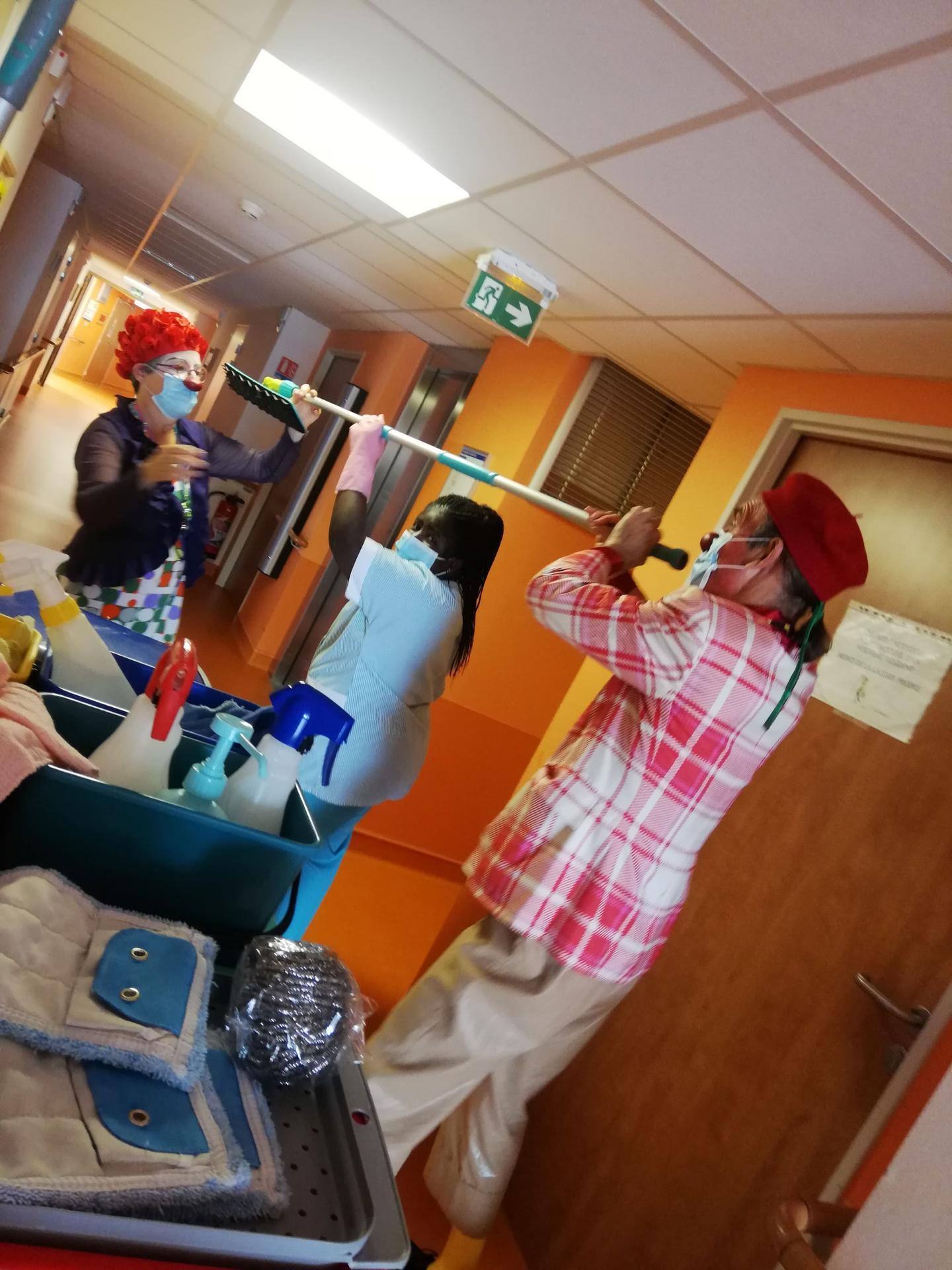 Clowns en EHPAD
