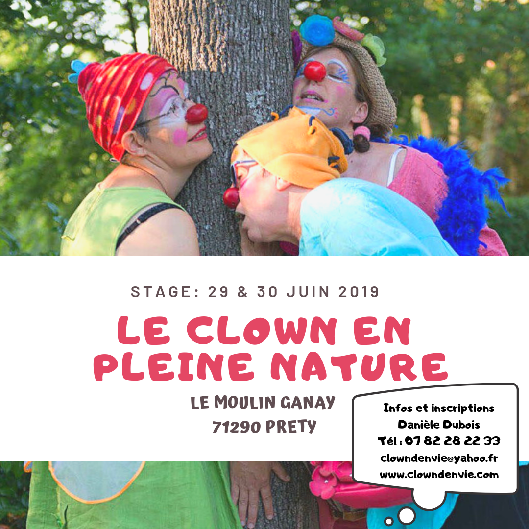 Clown en pleine nature