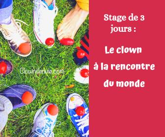 Stage 3 jours le clown a la rencontre du monde