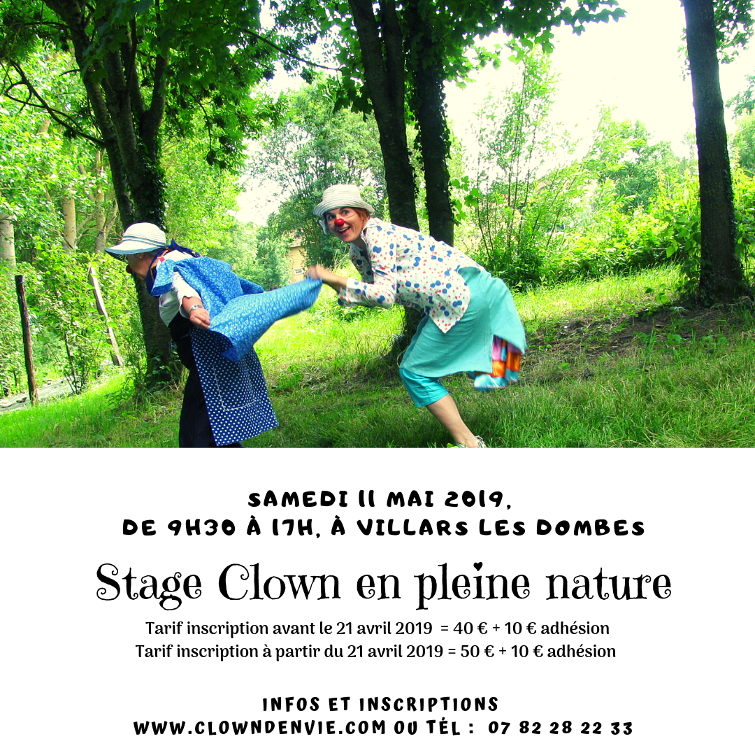 Stage clown en pleine nature